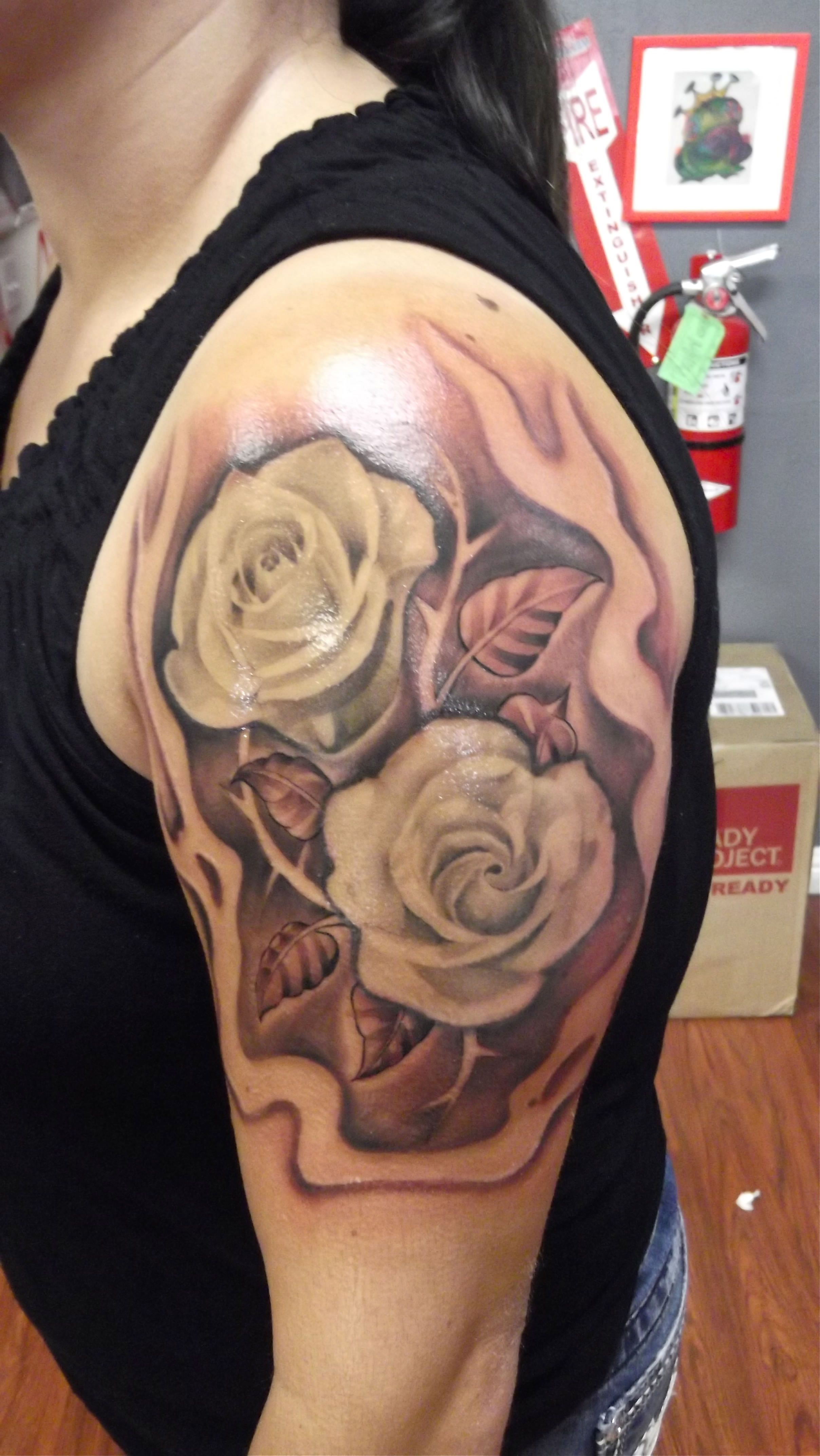 Rose and thorns bryangvargas for Rose with thorns tattoo