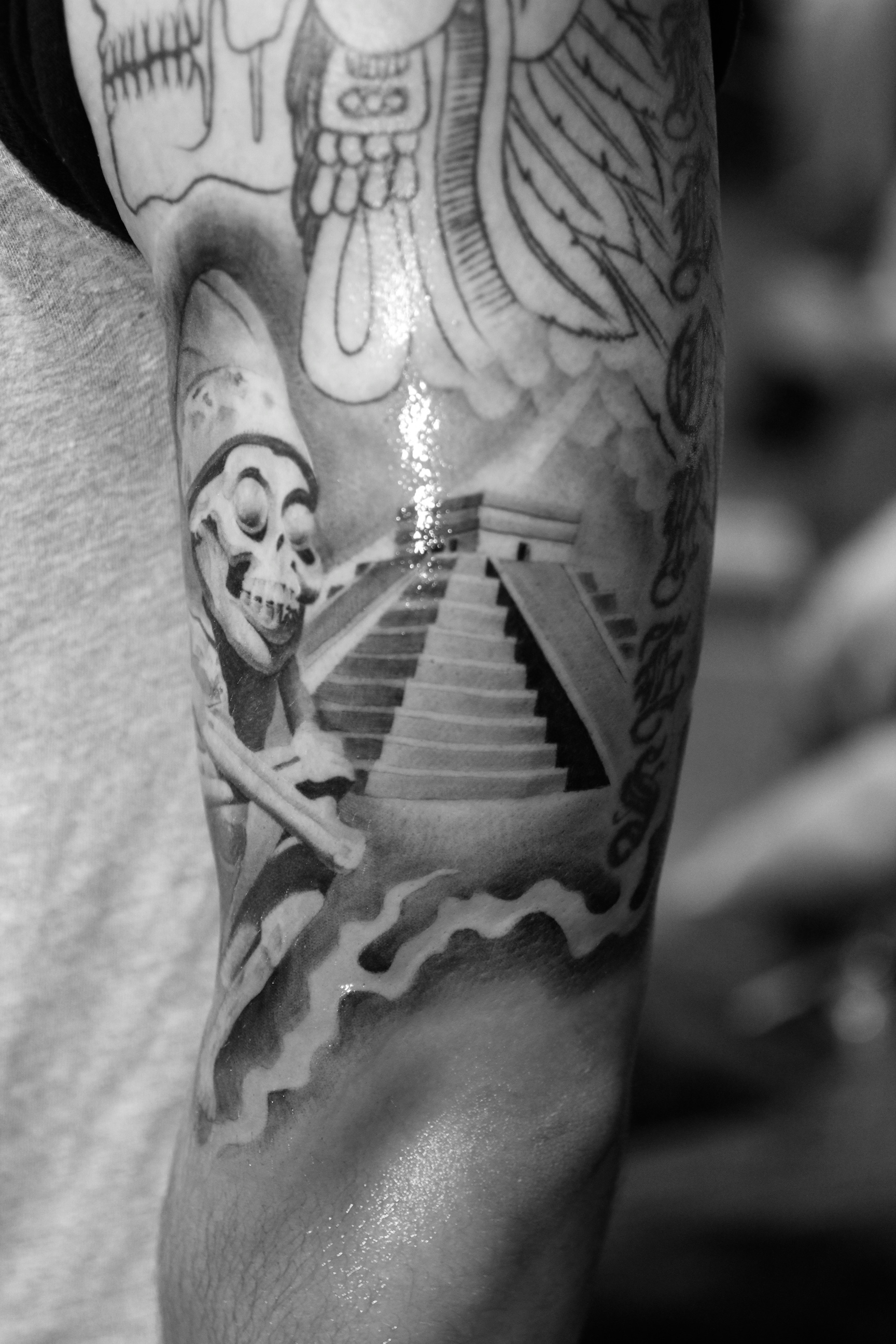 Aztec tattoo bryangvargas for Aztec tattoos sleeve
