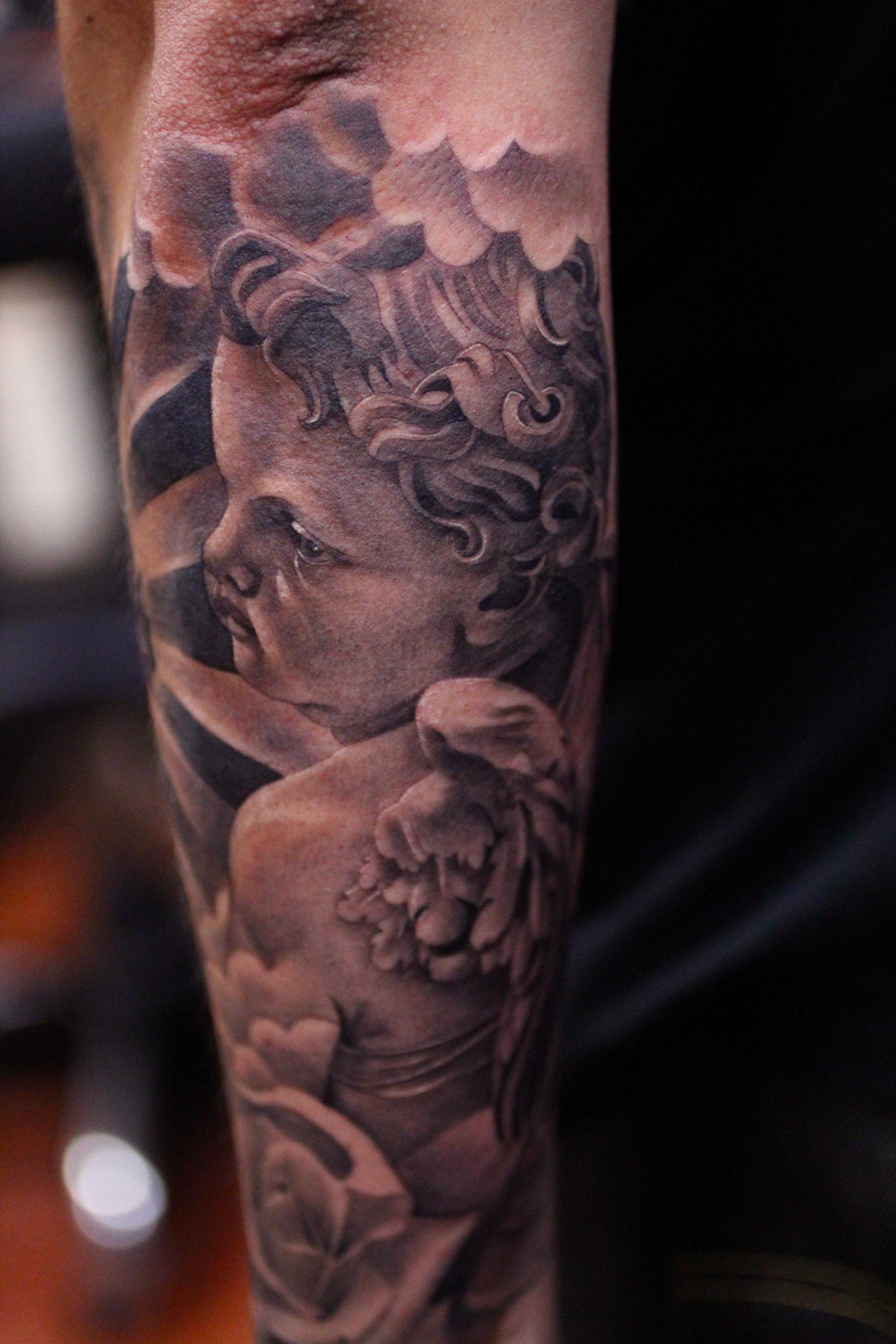 Good Vs Evil Half Sleeve Tattoos Good Vs Evil Sleeve Ta...